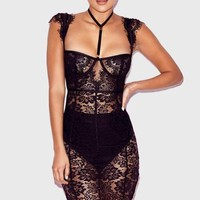 Bombshell Fitted Lace Dress