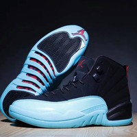 """""""Nike Air Jordan Ⅻ"""" Unisex Sport Retro High Help Leather Running Basketball Shoes Fashion Multicolor Couple Sneakers"""