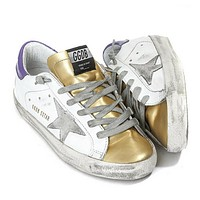 Golden Goose Super Star White/Plum Sneakers