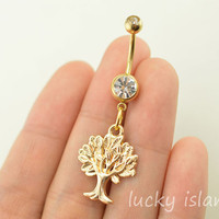 belly ring,wishing tree belly button jewelry,family tree belly button rings,navel ring,piercing belly ring,body piercing bellyring