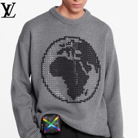 LV new knit high-grade hot drilling sweater