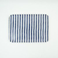 Fog Linen Work Coated Tray Medium Sailor Stripe