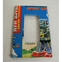 robot rocker switch plate retro 1950's vintage tin toy outer space kitsch decor
