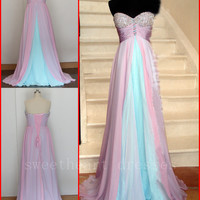 Formal Chiffon Long Prom Dresses Ball Gown Cocktail Party Evening Dress