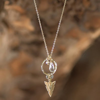 Arrow To My Heart Necklace-Clear