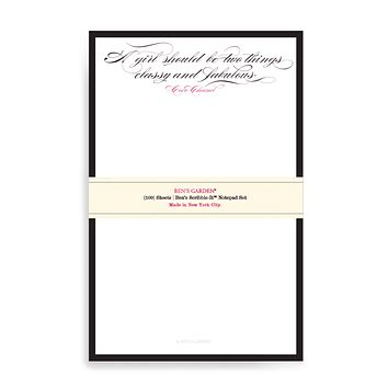 A Girl Should Be Two Things Scribble Notepad Set Of 2