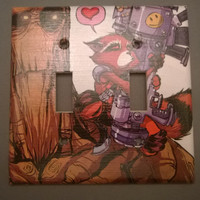 Rocket Raccoon Groot Comic Book superhero double toggle light switch cover