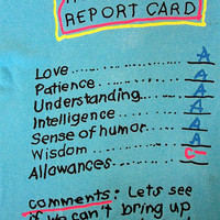 Vintage 90's FATHER'S DAY Report Card All A's Funny Allowance Novelty T Shirt Sz L