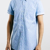 Lilac Patterned Short Sleeve Shirt - Short Sleeve Shirts - Men's Shirts - Clothing
