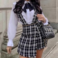 New plaid dress skirt fashion sexy skirt without bullets