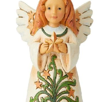Jim Shore Mini Angel With Star-6004297