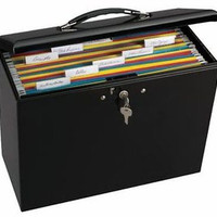 Locking Steel Security File Box Invoice Documents Organizer Portable Office New