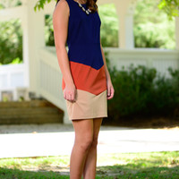 Meant To Be Dress, Navy