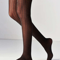 Ribbed Lurex Tight - Urban Outfitters