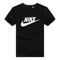Nike summer popular logo brand classic short sleeve T-shirt male popular logo sports pure cotton T-shirt loose shirt basketball youth half sleeve shirt male student casual wear no ball no color biao immediately