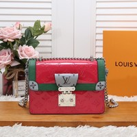 HCXX 19June 701 Louis Vuitton LV Wynwood Patent Leather Handbag 21-14-9 red