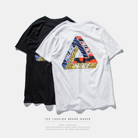 """""""PALACE"""" Letter and Tiger Pattern Short Sleeve T-Shirt"""