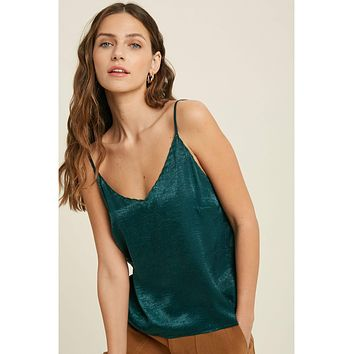 Scalloped Cami Teal