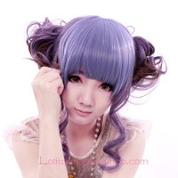 Lolita Purple Maid Sweet Cosplay Wig