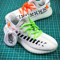Off White X Adidas Yeezy 350 V2 Boost Sport Running Shoes - Best Online Sale