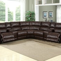 212D Caramel Brown Sectional - No Chaise