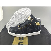 Air Jordan 1 black gold Basketball Shoes 40-47