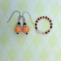 Halloween Earrings and Ring Set