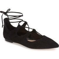 Vince Camuto 'Emmari' Pointy Toe Ghillie Flat (Women) | Nordstrom