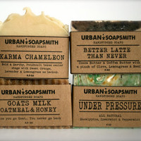 4 Bar Soap Set - Cold Process Soap, Cocoa Butter Soap, Homemade soap, Bar Soap, Men's Soap, Soap Sets, Unisex Soap, Father's Day Gift