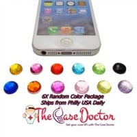 TCD for ALL Apple iPhones and iPads - Home Button Stickers BLING Decorate Colorful Diamond Bling Home Buttons Compatible with all Home Buttons
