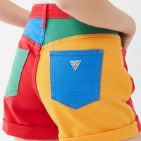 GUESS X J Balvin Claudia Colorblock High-Rise Short | Urban Outfitters