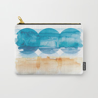 Sand and Surf Carry-All Pouch by noondaydesign