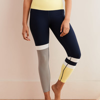 Aerie Move High Waisted Color Block 7/8 Legging, Navy