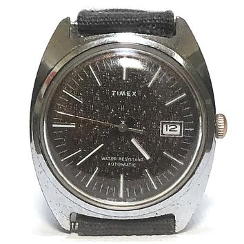 Vintage 1977 Timex Textured Dial With Date Keeper Automatic Watch