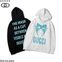 GUCCI hot selling monogram print hoodies fashion casual hoodies