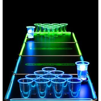 Glowing 8ft Beer Pong Game Table