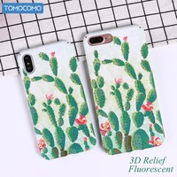 TOMOCOMO Flower Patterned Case For iPhone 6 6s 7 Plus Cover Soft Silicone Cactus Protect Cover For iPhone 8 8Plus Phone Cases