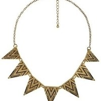 Aztec Tribal Geo Triangles Necklace