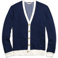Men's Color-Block Tipped Cardigan Sweater