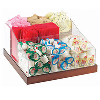 12.25D x 12.25W x 6.5H Luxe Multi Section Condiment Organizer White Metal/Copper Base
