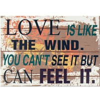 Love Quote Wooden Wall Sign: Case of 6