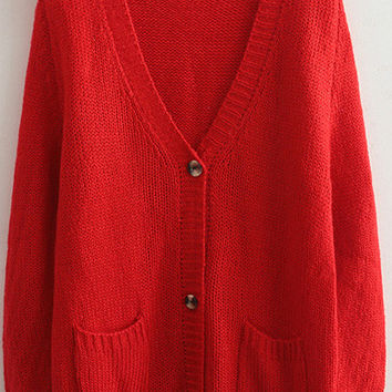 Red Mohair Cardigans