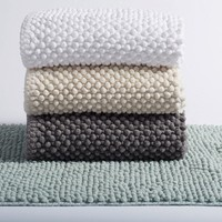 Pebbled Chenille Organic Bath Rugs & Runners