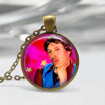 Napoleon Dynamite Uncle Rico Photo Shoot Bronze Plated Glass Necklace