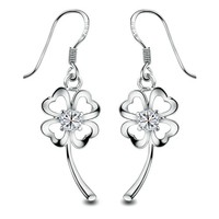 Gold Plated Flower Drop Earring for Sensitive Ears