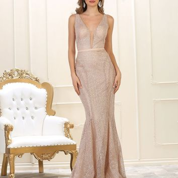 Long Prom Dress Formal Evening Gown Fitted