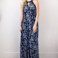 Daisy Embroidered Maxi Dress