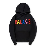Thicken Unisex Fashion Palace Cotton Print Hoodies