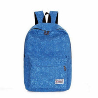Women Canvas Retro Orcelain Backpack