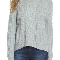 BP. Studded Cable Knit Sweater | Nordstrom